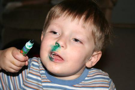 how to make toddler spit phlegm